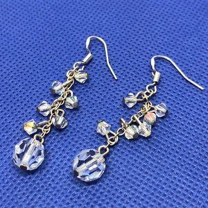 Jewelry - 🆕Sterling Silver Crystal Drop Earrings